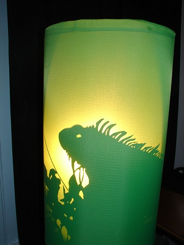 Shadow Puppet Lizard Lantern