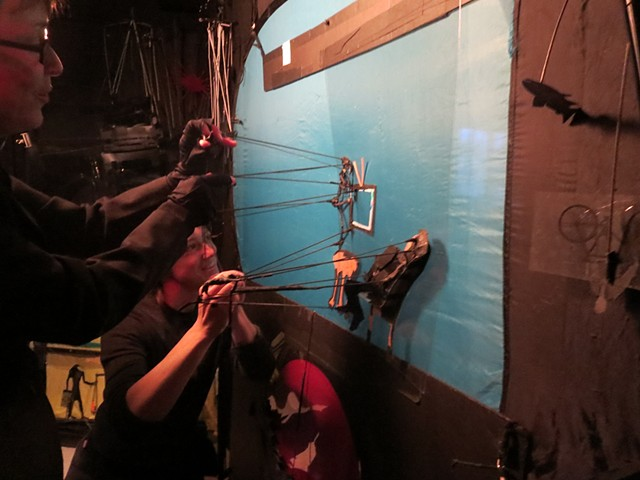 Shadow Puppets Backstage look.