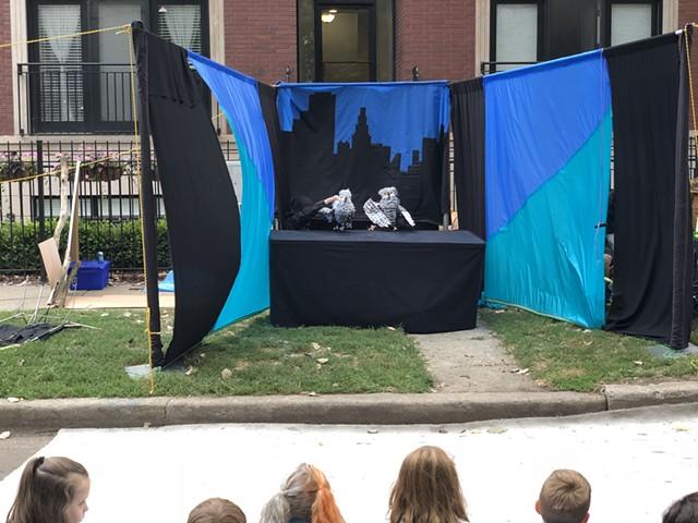 Outdoor Summer puppet show.