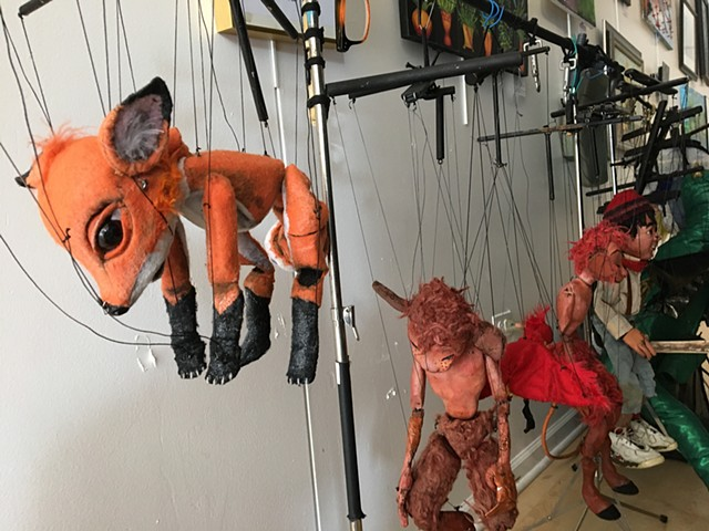 the fox marionette backstage