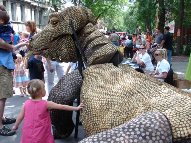 Komodo Dragon Parade Puppet