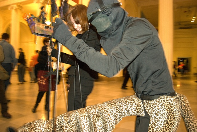 Puppeteers at the Field Museum