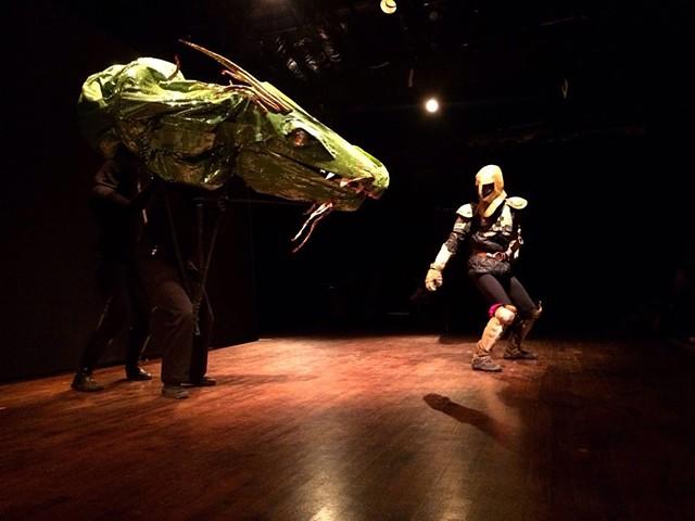 The knight vs the Dragon