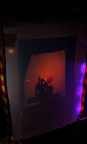 House on Fire Shadow Puppet Scene