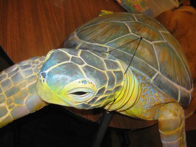 'Nickel' Sea Turtle Puppet