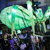 Giant Spider Puppet glows