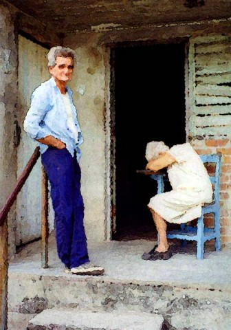 Old man and wife