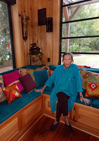 woman in her Florida home