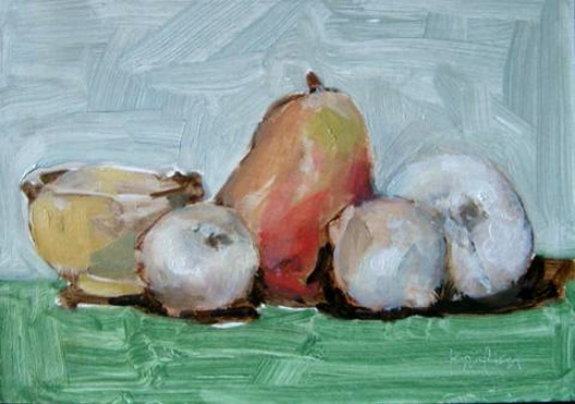 onions and pear