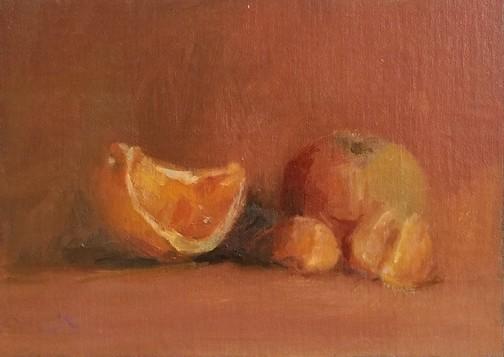 apple in orange