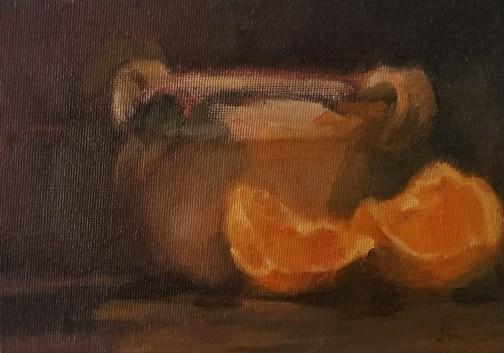 umber and orange