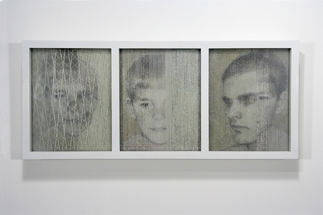 Benjamin Kress Self-Portrait Triptych painting