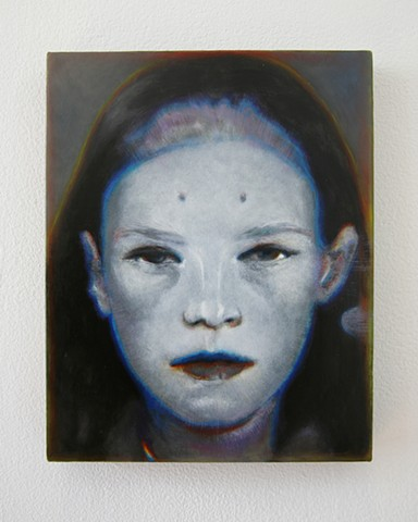 Benjamin Kress painting Hybrid Face #1 oil on linen