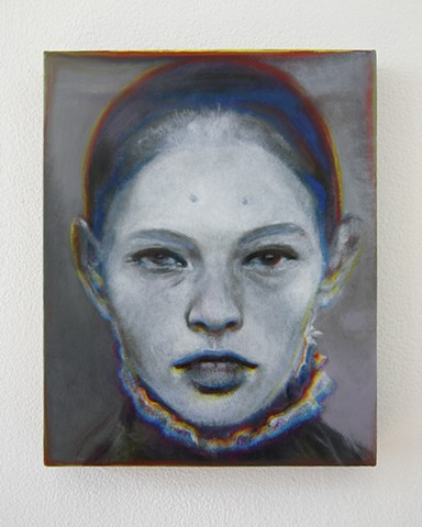 Benjamin Kress painting Hybrid Face #5 oil on linen