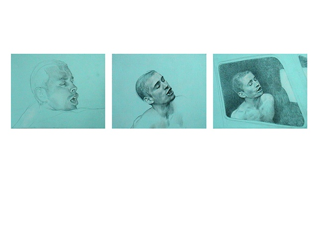 Benjamin Kress Three Studies of J.R. drawings