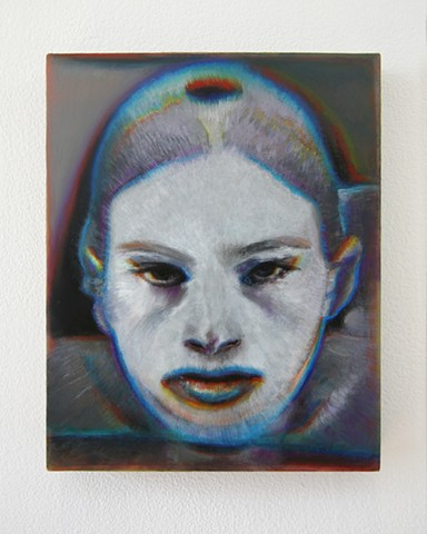 Benjamin Kress painting Hybrid Face #4 oil on linen