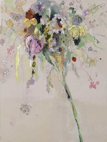 Raw Canvas Floral Painting
