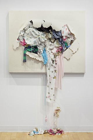 Fabric Art, Recycled Art, Installation Art, Canvas reimagined