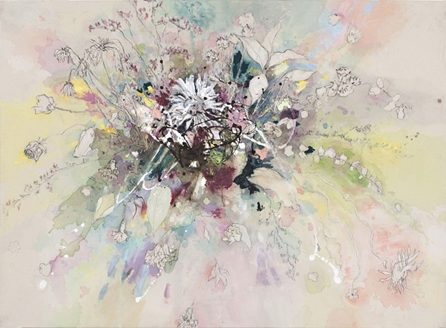 Large Abstract Floral Painting