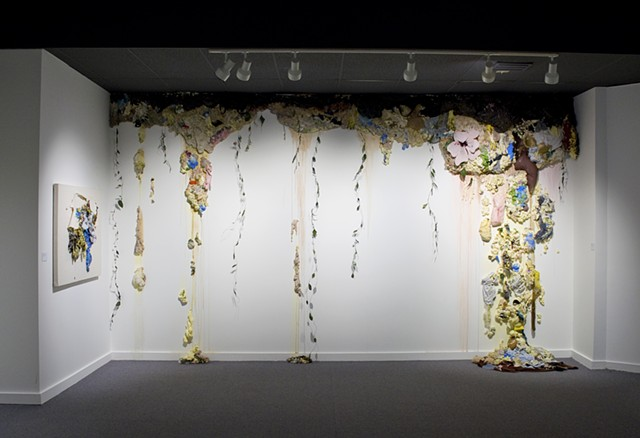 Foam and Paint Installation Art