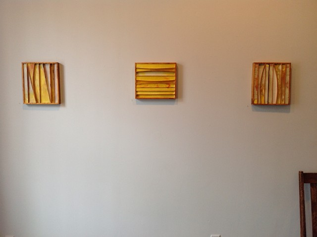 "Untitled, ""box cars"", with chair for scale"