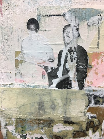 Mixed media collage by Antoine Williams