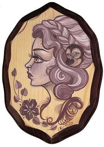 #10 5x7 acrylic on wood unframed