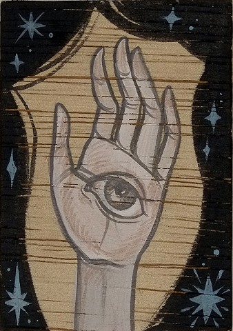 #25 2 1/2 x 3 1/2 acrylic on wood