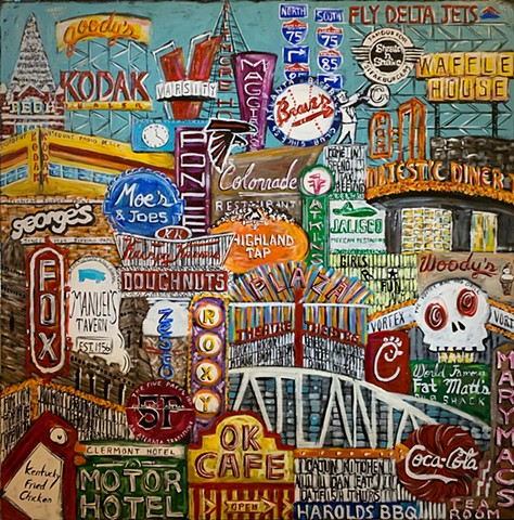"Atlanta Color 48"" x 48"" #2"