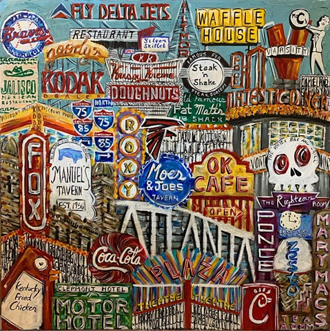 "Atlanta Color 36"" x 36"""