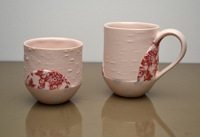 PINK BIRCH DOT CUPS
