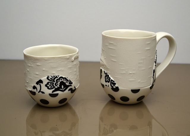 BLACK BIRCH DOT CUPS