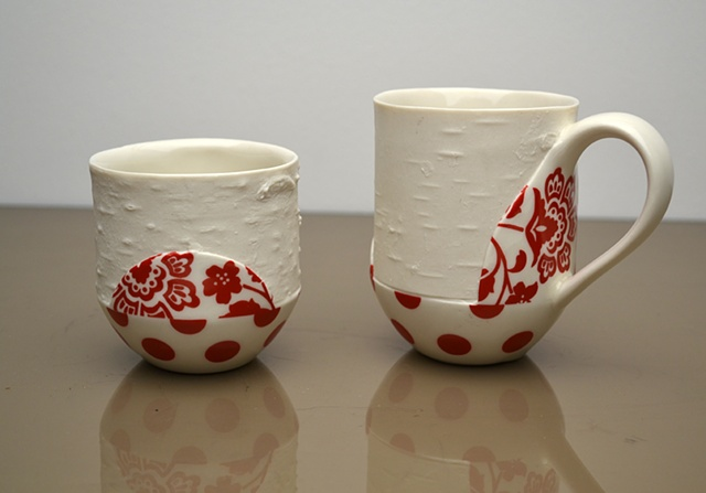 RED BIRCH DOT CUPS