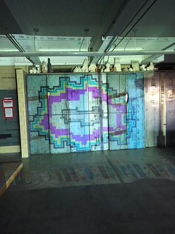 Projected template on rigid foam sheets