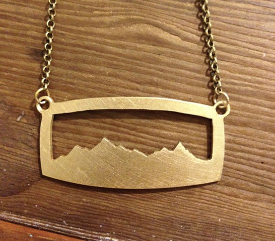 Single Layer Mountain Range Silhouette Necklace