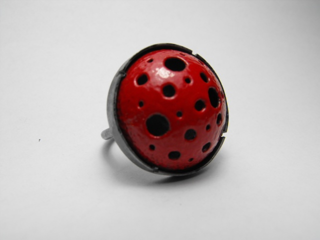 Enameled Steel Dome ring