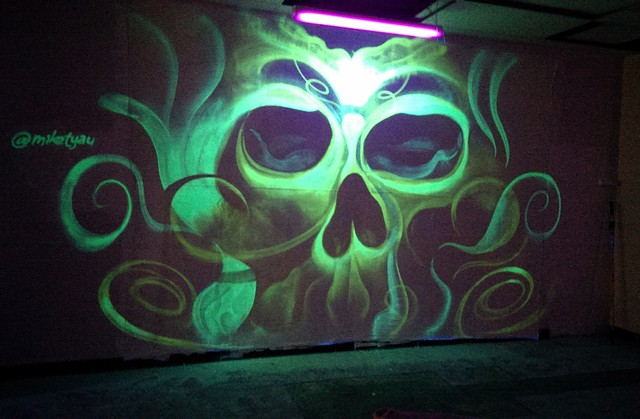 Blacklight Skull