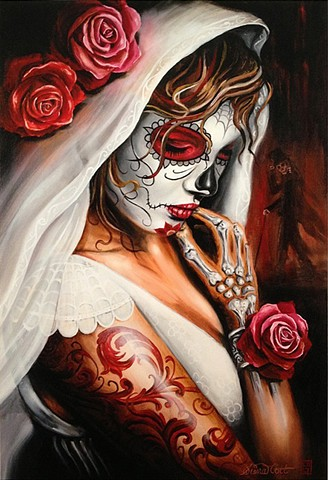 day of the dead, painting, oil, art