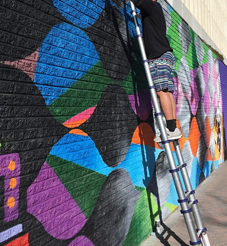 23rd Street Mural, Crystal City, VA collabo with Mas Paz, Miss Chelov & Cri assisted by Aiden Huntington video: Street Art Films