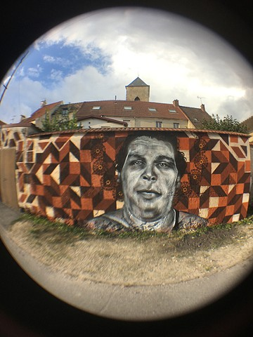 Homage to André the Giant Future History Now with Moe + Kids of Ussy  Ussy-sur-Marne, France edited by Street Art Films & Jahru