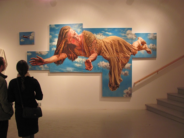 "Installation view of ""Lauren Flying Solo"""
