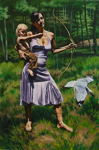 The Hunt:  Diana and Child