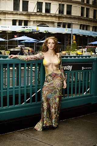 NYC Fashion Week -Subway