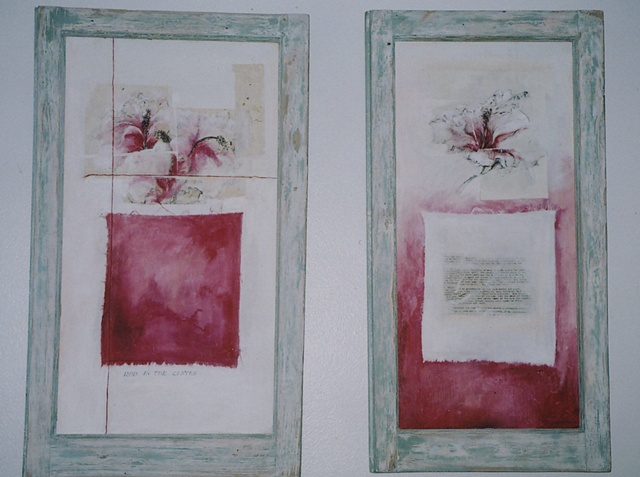 Red in the Center (diptych)