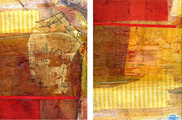 About to happen digital print diptych