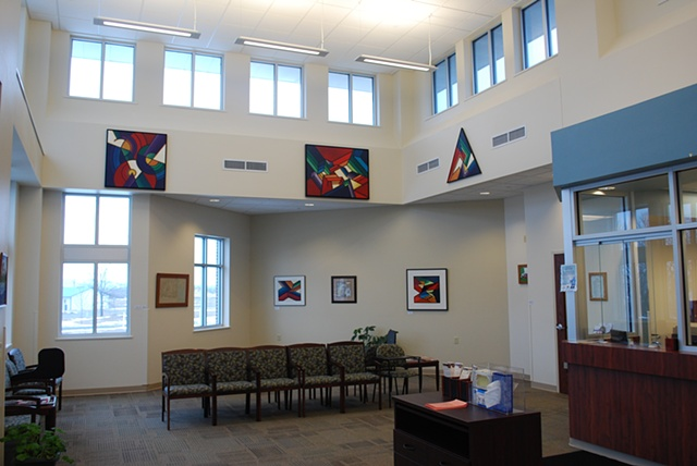 Installation of work at the Family Practice Clinic near Green Lake, Wisconsin, Cty A & Hwy 23