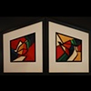 Altered 3D Wall Pieces #s 1981 & 1982