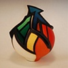Acrylic on Sculptural Clay Form