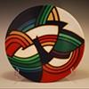Acrylic on Clay Bowl, #920