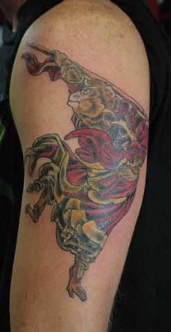 Monkey - not my art taken from a print, but I LOVE this tattoo, will be adding more in future